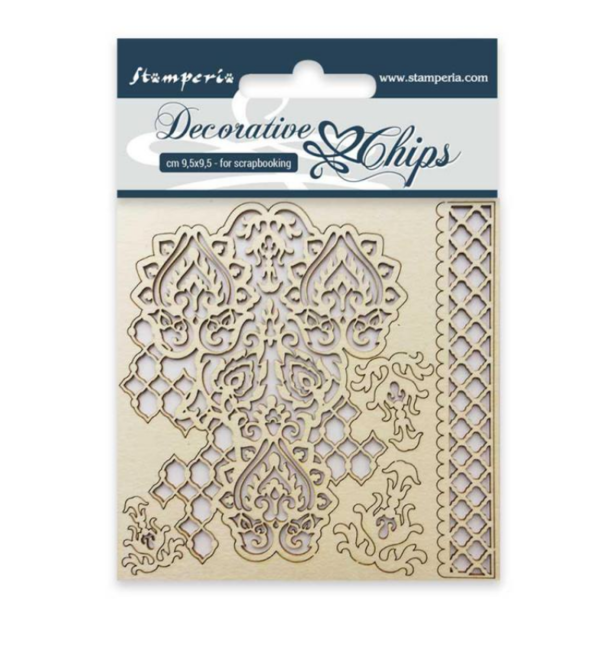 Stamperia Chipboard  Decorative chips 9,5x9,5cm Winter Tales